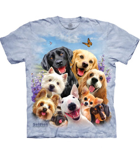 Dogs Selfie - Adult Unisex T-Shirt