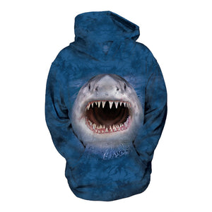 The Mountain Wicked Nasty Shark - Kid's Unisex Hoodie Sweatshirt