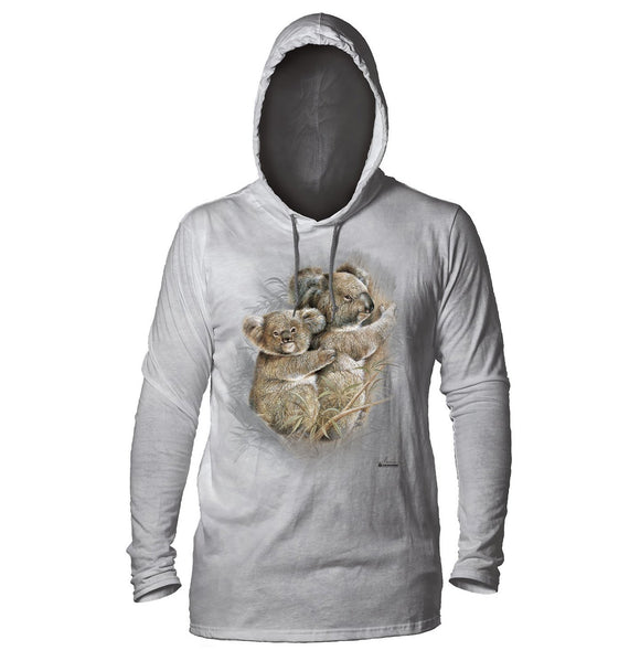 The Mountain - Koalas - Adult Unisex Lightweight Hoodie