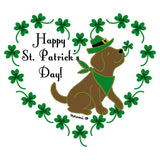 St. Patrick's Day Clover Heart Chocolate Lab - Adult Unisex T-Shirt