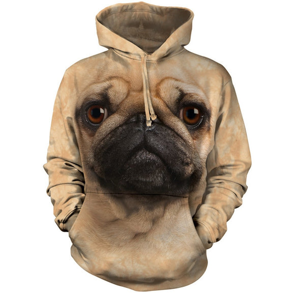 The Mountain Pug Face - Hoodie Sweatshirt