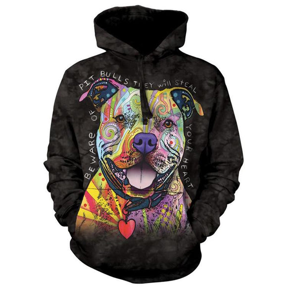 The Mountain Beware Of Pit Bulls - Hoodie Sweatshirt