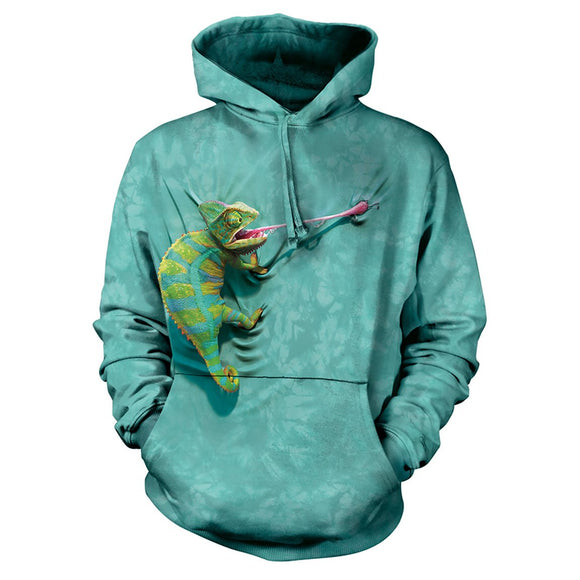 The Mountain Climbing Chameleon - Hoodie Sweatshirt
