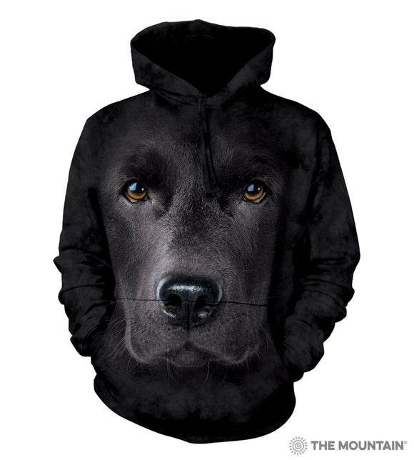 The Mountain Black Labrador Retriever 3D Face Sweatshirt