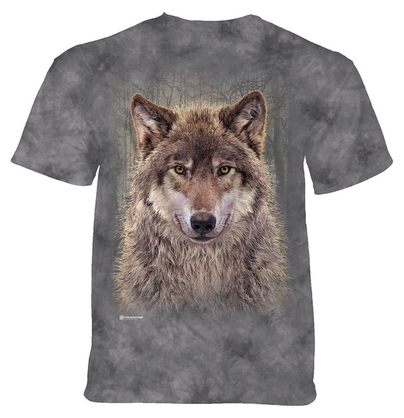 The Mountain - Grey Wolf Forest - Adult Unisex T-Shirt