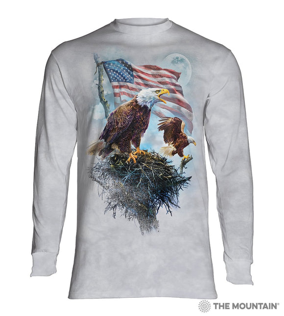 American Eagle Flag - Adult Unisex Long Sleeve T-Shirt