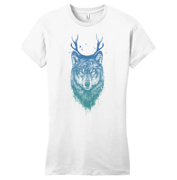 Deer Wolf - Women's Fitted T-Shirt - Animal Tee