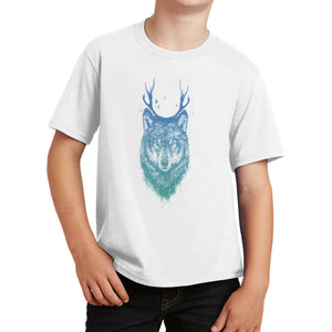 Deer Wolf - Kids' Unisex T-Shirt