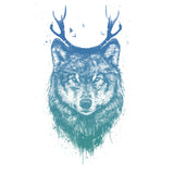 Deer Wolf - Women's Fitted T-Shirt