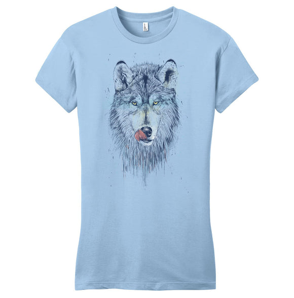 Dinner Time Wolf - Women's Fitted T-Shirt