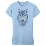Dinner Time Wolf - Women's Fitted T-Shirt - Animal Tee