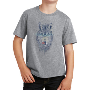 Dinner Time Wolf - Kids' Unisex T-Shirt