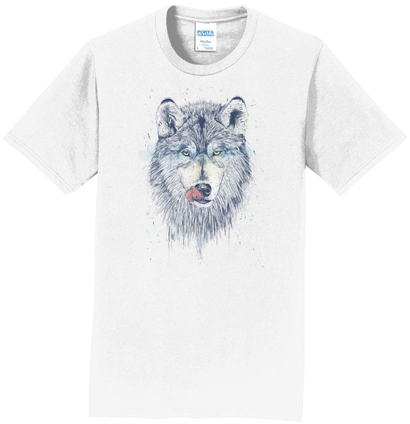 Dinner Time Wolf - Adult Unisex T-Shirt