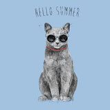 Hello Summer Cat - Women's Fitted T-Shirt