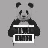 Panda - I Need Color - Women's Fitted T-Shirt