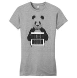 Panda - I Need Color - Women's Fitted T-Shirt - Animal Tee