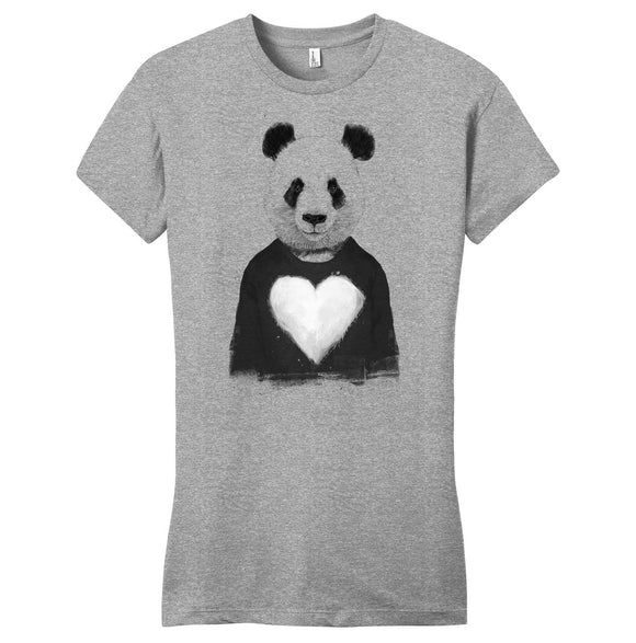 Lovely Panda - Women's Fitted T-Shirt - Animal Tee