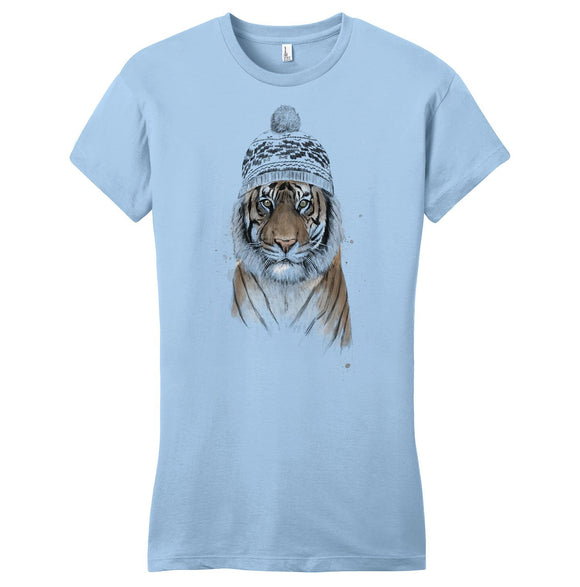 Siberian Tiger - Women's Fitted T-Shirt - Animal Tee