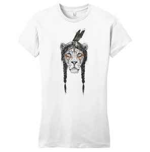 Warrior Lion - Women's Fitted T-Shirt - Animal Tee