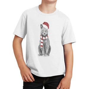 Xmas Cat - Kids' Unisex T-Shirt