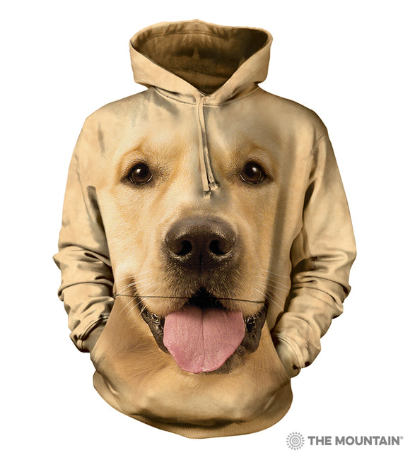 Big Face Golden - Adult Unisex Hooded Sweatshirt