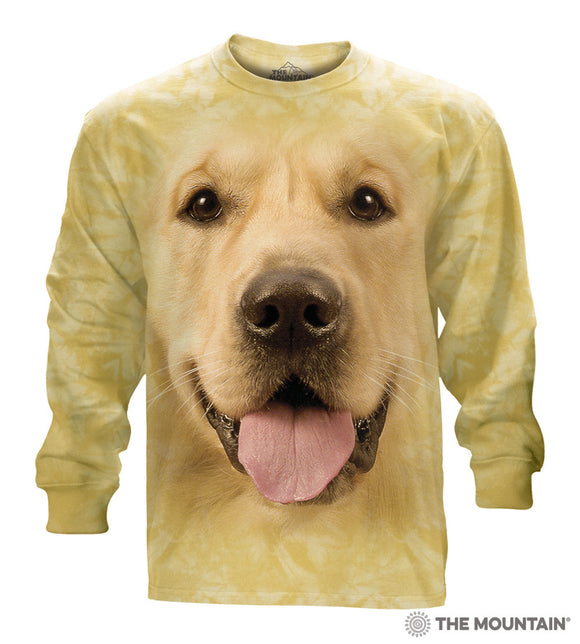 Big Face Golden Retriever 3D Dog Long Sleeve T-Shirt The Mountain