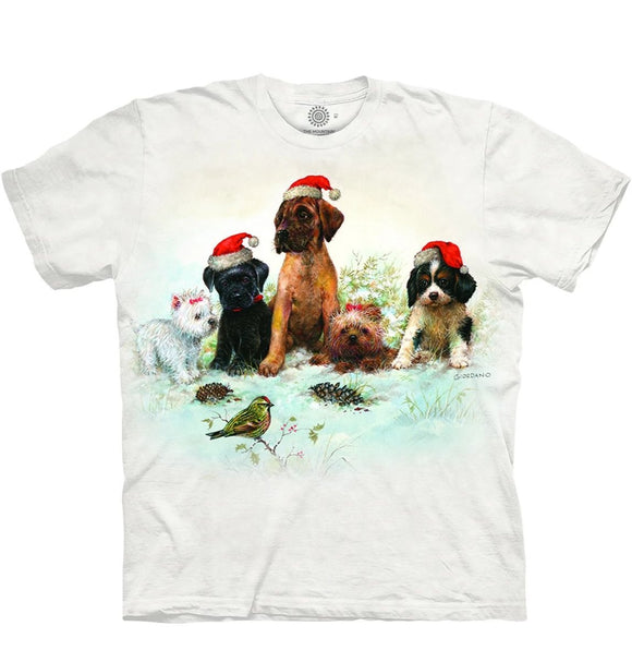 Christmas Pals - The Mountain - 3D Dog T-Shirt