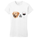 Lab and Wine - Women's Fitted T-Shirt