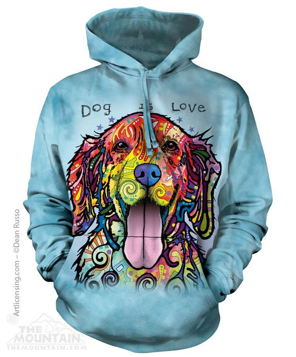 Dog Is Love - Adult Unisex Hoodie Sweatshirt