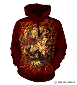 Fire Tiger - The Mountain - 3D Hoodie Animal Sweatshirt