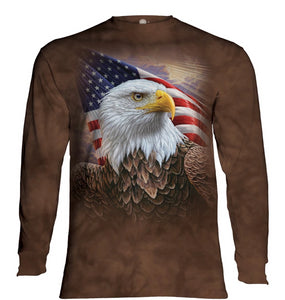 Independence Eagle - The Mountain - Long Sleeve 3D Animal T-Shirt