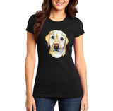 Yellow Lab Face Watercolor - Women's Fitted T-Shirt