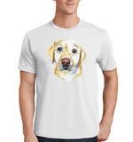 Yellow Lab Face Watercolor - Adult Unisex T-Shirt