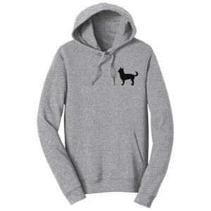 Chihuahua Left Chest Silhouette - Adult Unisex Hoodie Sweatshirt