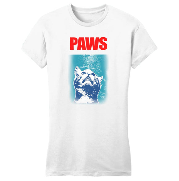 Paws - Women's Fitted T-Shirt - Animal Tee