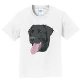 Black Lab Tongue Out - Kids' Unisex T-Shirt