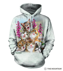 Kitten Selfie - The Mountain - 3D Hoodie Animal Sweatshirt