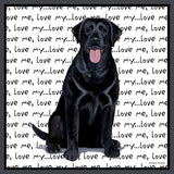 Black Lab Love Text - Women's Fitted T-Shirt
