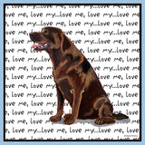 Chocolate Lab Love Text - Women's Fitted T-Shirt