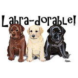 Labra-dorable Three Puppies - Adult Unisex T-Shirt
