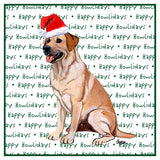 Yellow Lab Howlidays - Women's Fitted T-Shirt