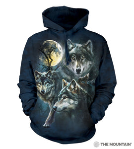Moon Wolves Collage - The Mountain - 3D Hoodie Animal Sweatshirt