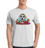 Labrador with Bow Tie and Flowers - Adult Unisex T-Shirt