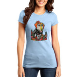 Happy Lab - Skeleton Style - Women's Fitted T-Shirt