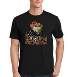 Happy Lab - Skeleton Style - Adult Unisex T-Shirt