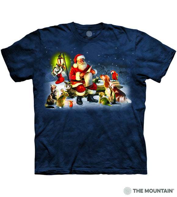 Santa's List - The Mountain - 3D Dog T-Shirt