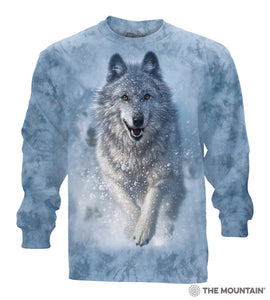Snow Plow Wolf - Adult Unisex Long Sleeve T-Shirt