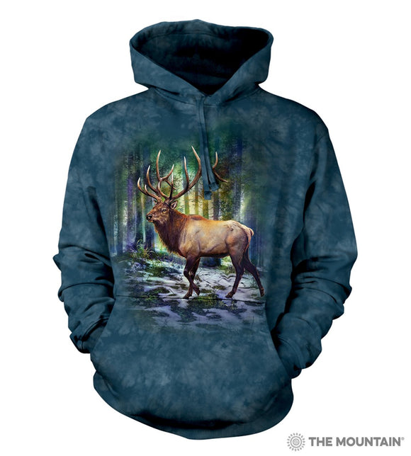 Sunlit Elk - The Mountain - 3D Hoodie Animal Sweatshirt