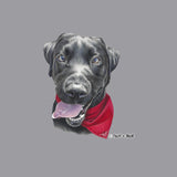 Black Lab With A Bandana - Adult Unisex T-Shirt