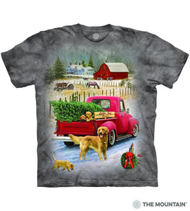 Tree Farm Pups - The Mountain - 3D Dog T-Shirt